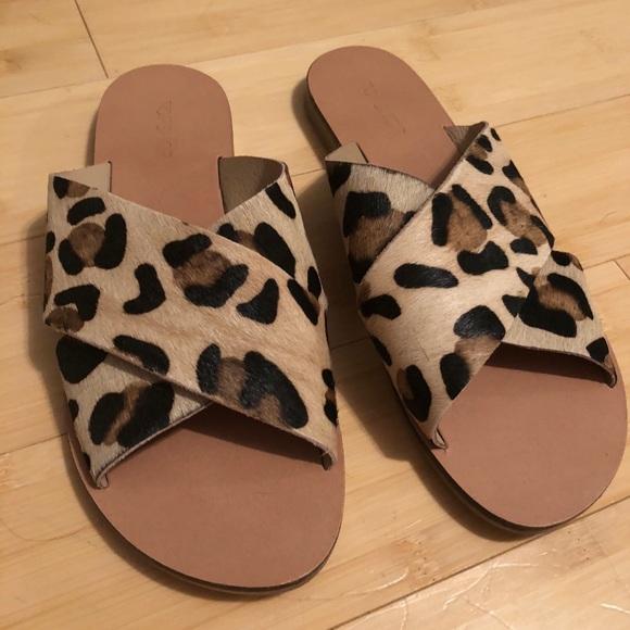 Topshop Shoes   Topshop Leopard Sandals